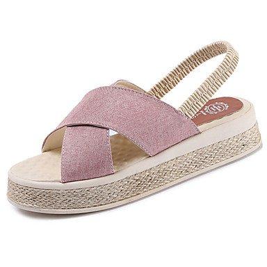 LvYuan Da donna Sandali PU (Poliuretano) Primavera Estate Piatto Beige Rosa Marrone scuro 2,5 - 4,5 cm blushing pink