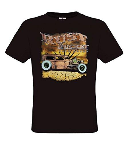... Rockabilly Retro Style - regular fit Black. Ethno Designs - Rust Bucket  - Hot Rod T-Shirt für Herren - Old School