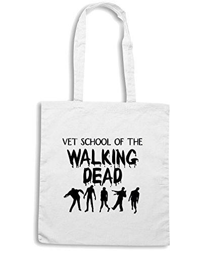 T-Shirtshock - Borsa Shopping TZOM0009 vet school zombies light Bianco