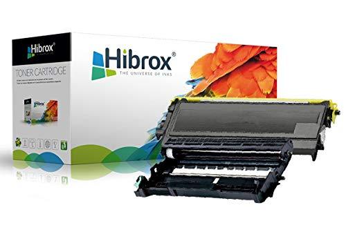 Pack 2Pcs Hibrox Toner / Tambour Compatible Brother 1x TN 2000 350 1x DR 2000 350 pour Brother DCP 7010 7010C 7010L 7020 7025 FAX 2820 2825 2920 HL 2020 2030 2031 2032 2035 2037 2040 2050 2070 2070N - Toner Tn-350 Brother