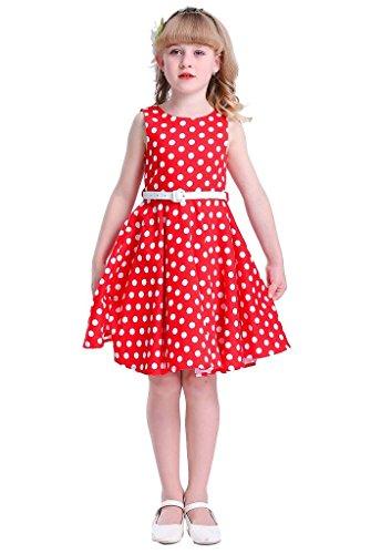 HAPPY ROSE Vintage Floral Party Girl's Dress