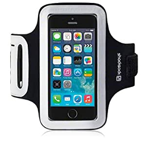 Shocksock Reflective Sports Armband, Case, Cover, Holder for iPhone 5S - Black