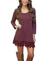 Summer Mae Damen A-line Lace Quaste Beiläufigkeit Herbst Kleid Retro-Look Dress