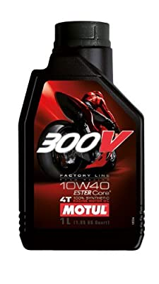 Motul 300V Factory Line Ester Core Fully Synthetic 10W-40 Petrol Engine Oil for Bikes (1 L)