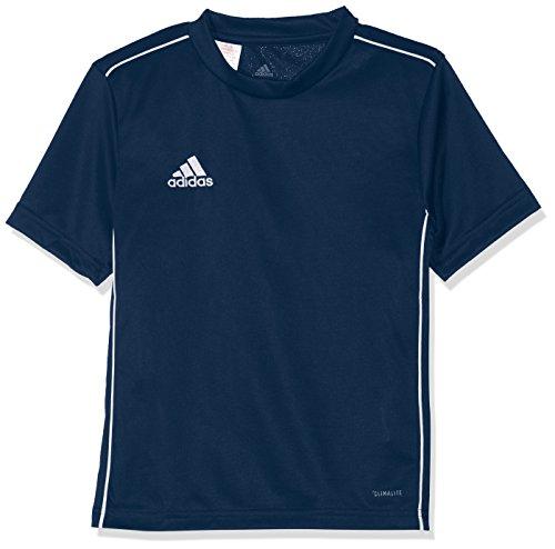 adidas Kinder CORE18 JSY Y T-Shirt, Dark Blue/White, 11-12Y (Adidas Kinder Trikot)