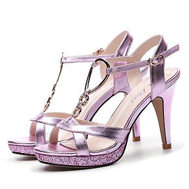CH&TOU Da donnaMatrimonio / Formale / Serata e festa-Tacchi-A stiletto-Finta pelle-Nero / Viola purple