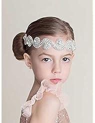 aukmla Strass Stirnband, Girl Head Accessoires, Kristall Braut Kopfbedeckung, Gatsby Bling, Kopfband, Kopf Kette für Frauen und Mädchen