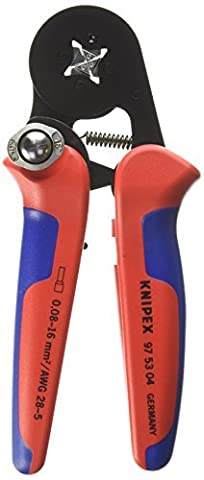 Knipex 97 53 04 Sb Terminal Socket Tong with Automatic Adjustment Crimpaggio Side Plastic Coated 180 mm Burnished by Knipex
