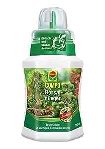 COMPO Bonsaidünger für alle Arten von Zimmer- und Gartenbonsais, Spezial-Flüssigdünger mit extra Kalium, 250 ml