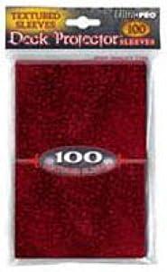 Amigo Spiel + Freizeit Ultra Pro Deck Protector Textured Burgundy (100) (81917)-Accesorios de Cartas