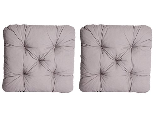 Ambientehome 90029 - Cojín para sillas de exterior, color gris