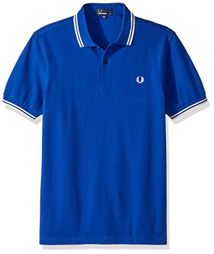 Fred perry polo m3600 twin tipped f80 blu regal piquè cotone ss18 xs