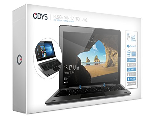Odys Fusion Win 12 Pro 2in1 295 cm 116 Zoll Tablet PC Intel Atom Quadcore x5 Z8350 extensive HD IPS monitor 4GB RAM 32GB splash HDD Win 10 Micro HDMI Micro USB Anschluss schwarz Notebooks