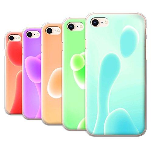 Stuff4 Hülle / Case für Apple iPhone 8 / Pack 5pcs / Lavalampe Kollektion Pack 5pcs