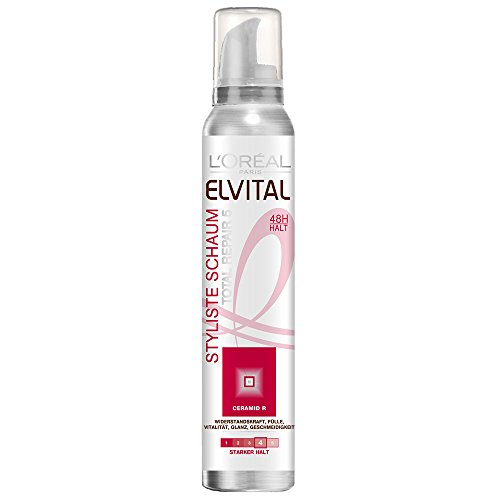 L\'Oréal Paris Elvital Styliste Schaumfestiger Totail Repair 5, starker Halt, 6er Pack (6 x  150 ml)