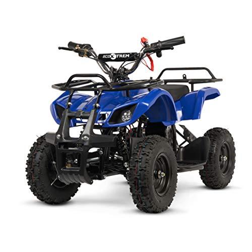 ECOXTREM Quad para niños de Color Azul, eléctrico, Infantil, Motor 800W, batería 36V, Velocidad hasta 25km/h, autonomía hasta 25km/h. Incorpora Luces Frontales, 2 velocidades y Doble Marcha.