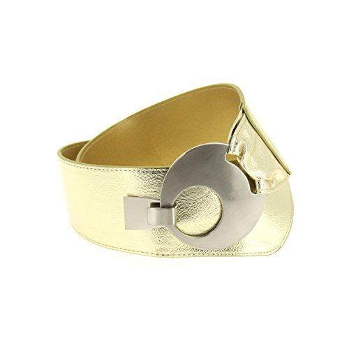 Fashiongen Cintura larga fibbia rotonda attraversare VANESSA