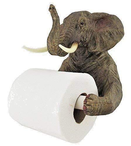 Homezone Grande Elefante Papel Higiénico Portarrollos para Colgar en Pared Inodoro Papel de Seda Dispensador Portapañuelos Baño Decoración
