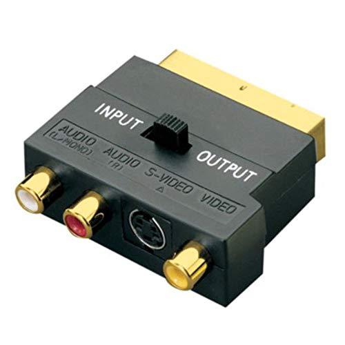 Cyond SCART-Adapter AV-Modul auf 3 Phono-Composite, S-Video mit Eingangs- / Ausgangsschalter Gold - Dvi-modul
