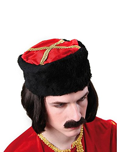 Cossack hat Russian Hat black red