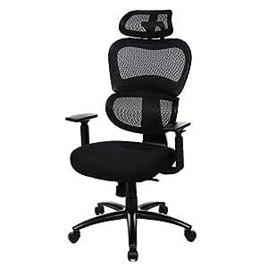 Songmics fauteuil de bureau avec appui t te accoudoirs - Amazon chaise de bureau ...