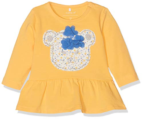 NAME IT Baby-Mädchen Langarmshirt NBFDARA LS TOP, Gelb (Pale Marigold), (Herstellergröße: 56)