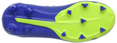 adidas Boys  X 18 3 Fg J Shoes   Football Blue Solar Yellow Core Black   2 UK 2 UK