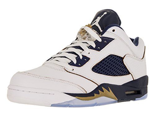 Chaussure De Basket-ball Nike Air 5 Retro Low White