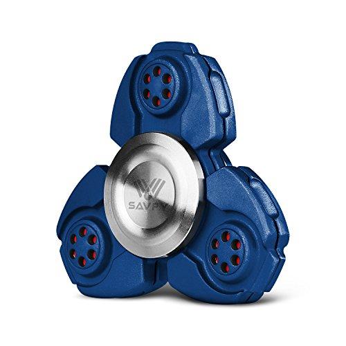 Preisvergleich Produktbild SAVFY Fidget Spinner Finger Hand Spinner Keramik Lager für Autismus EDC Bremskraftbegrenzer Entlastet und Entspannung für Kinder und Erwachsene, Blau