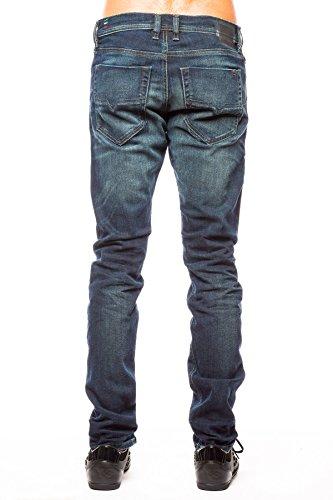 Diesel Herren Straight-Cut Stretch Jeans LARKEE 084CV Blau