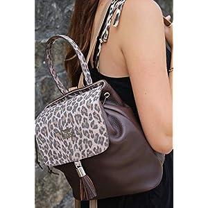 brauner Leder Rucksack Cityrucksack Lederhandtasche Damenhandtasche Backpack