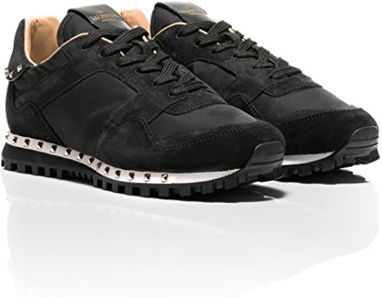 Valentino Herren Sneaker Schwarz Schwarz  Billig und erschwinglich Im Verkauf