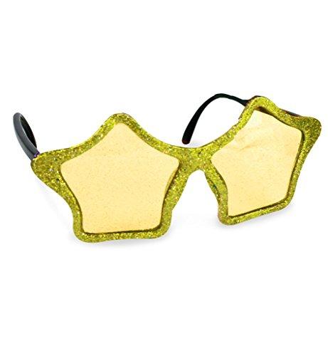 Stern-Brille, sortierte Farben (gold)
