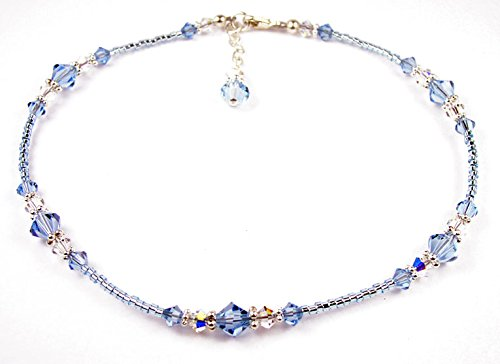 Damali Damen - 925 Sterling-Silber Sterling-Silber 925 Rundschliff Saphir -