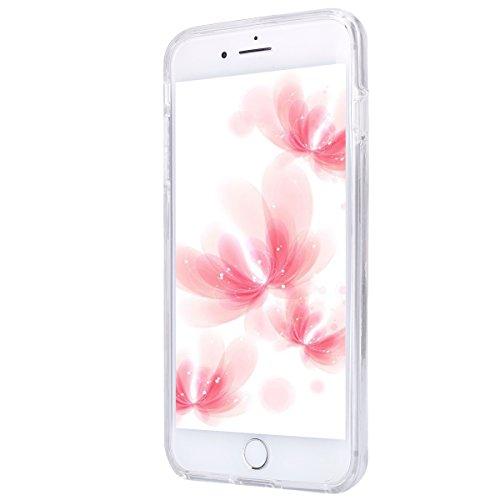 iPhone 7 Plus Hülle Case,iPhone 7 Plus Schutzhülle Bumper,Ekakashop Modisch Durchsichtig Ultra dünn Slim 2 in 1 Transparent Delphine Schwimmen Muster Weiche TPU + PC Silikon Crystal Klar Flexible Gel  Traumfänger