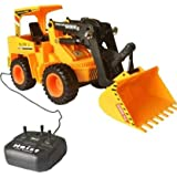 ExaltedCollection Wired Remote Control Battery Operated JCB Crane Truck Toy (Yellow) (Black, Yellow)