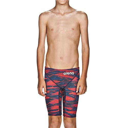 arena Jungen Racing-Badeanzug Powerskin ST 2.0 Jammer, Herren, Störsender, Boy's Powerskin St 2.0 Jammer Swimming Bottoms, blau/rot, 24