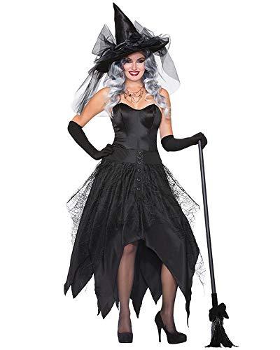 Für Kostüm Classic Hexe Erwachsene - Classic Pink Damen Karneval Cosplay Kostüm, Halloween Christmas Party Schwarz Große Größe Hexe Kostüm Stil2 XL