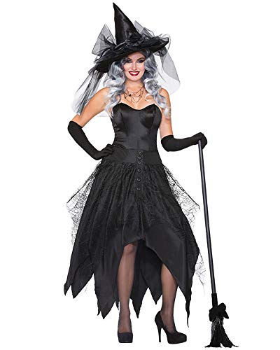 arneval Cosplay Kostüm, Halloween Christmas Party Schwarz Große Größe Hexe Kostüm Stil2 2XL ()