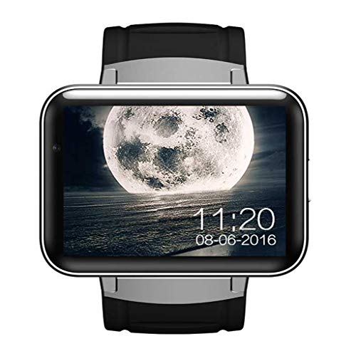 SDSFMF Intelligente Uhr Smart WatchDual Core 2,2 Zoll Touchscreen 900mAh Batterie 512MB RAM 4GB ROM für Android 4.4 OS 3G GPS WiFi, Silber