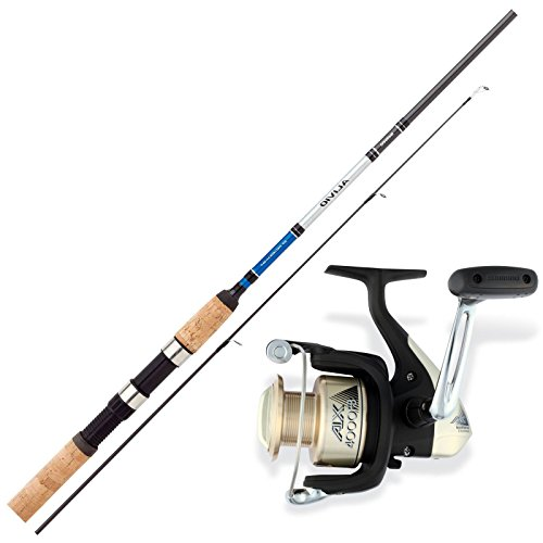 SHIMANO Hecht Angelset Combo Angelrute & Angelrolle Set - Angeln NO.1
