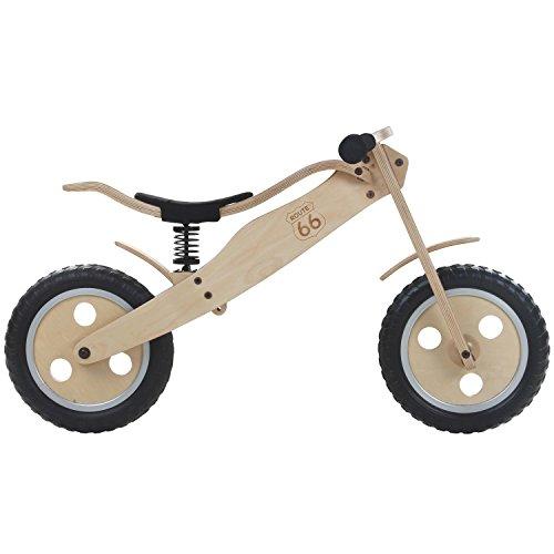 12 Zoll Holz Laufrad Lernlaufrad Fahrrad Kinderbike Lauflernrad Bike Kinder, Ausführung:Variante 2