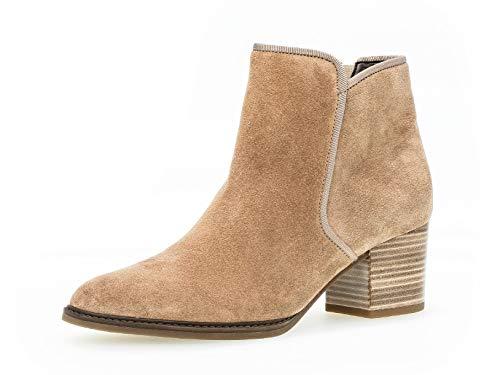 Gabor Damen Stiefelette 32.890, Frauen Kurzstiefel,Stiefel,Boot,Halbstiefel,Bootie,Reißverschluss,Desert (Micro),38 EU / 5 UK