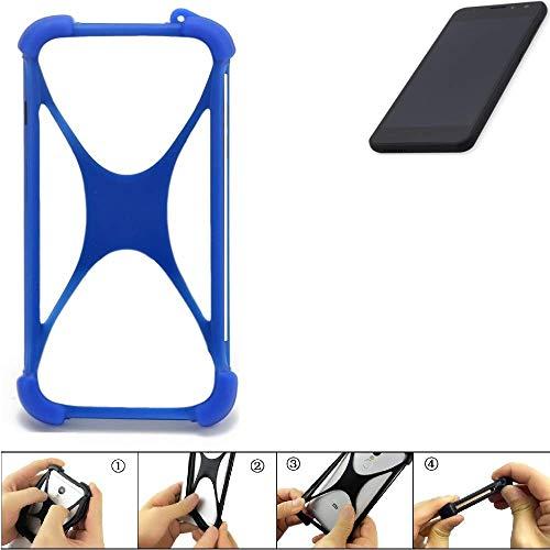 K-S-Trade Handyhülle für Shift Shift5.3 Silikon Schutz Hülle Cover Case Bumper Silikoncase TPU Softcase Schutzhülle Smartphone Stoßschutz, blau (1x)