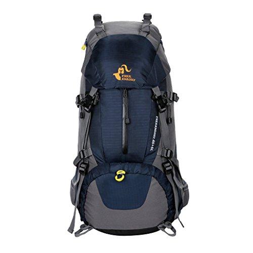 MagiDeal 50L Grande Zaino da Escursionismo Corsa Sport Campeggio Outdoor Bagagli Backpack - Nero Blu scuro