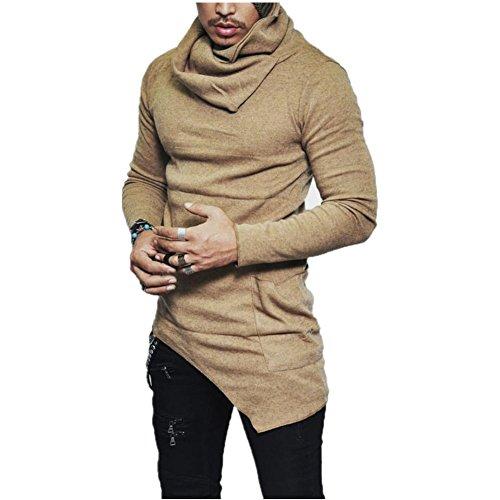 Giacche da uomo, reasoncool 2017 giacca di lusso cappotto fresco degli uomini di inverno,copertura, calore (size:xxl, cachi)