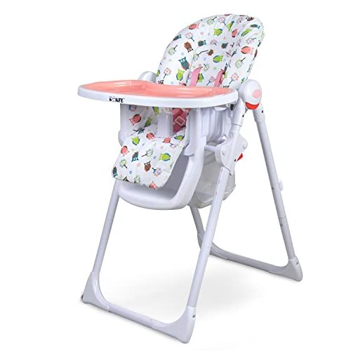 iSafe MAMA Highchair – Twilight Recline Compact Padded Baby High Low Chair Complete With Double Tray & Storage Basket 41Ul2UIN2qL