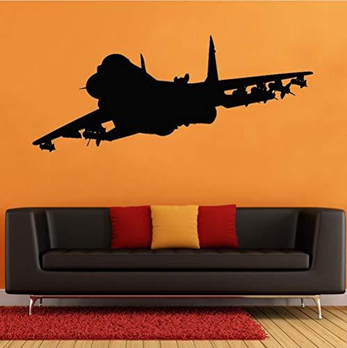 ufkleber Aircraft Air Militärflugzeug Vinyl Aufkleber Home Garage Raum Innendekoration 139 * 58 ()