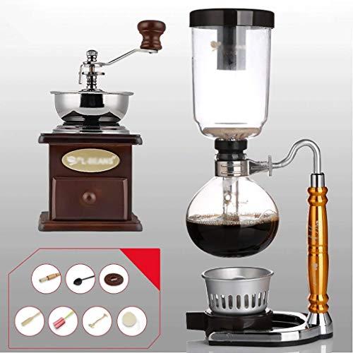 Siphon Kaffeemaschine Set Kaffee Siphon Technia Kuh Sternzeichen Totem Siphon Kanne Kaffeekanne 3 Tassen, 110 * 352 mm Vakuum-Kaffeemaschinen