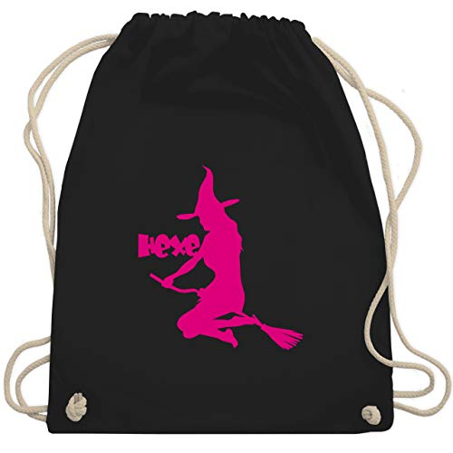 Halloween - Hexe auf dem Besen - Unisize - Schwarz - WM110 - Turnbeutel & Gym Bag